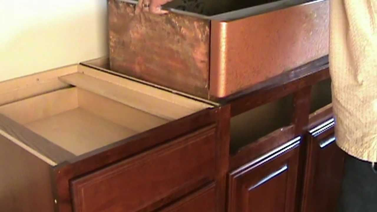 Apron front sink installation in existing by