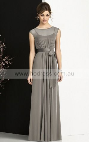 b9cc98f14d2a5 Cap Sleeves Buttons Jewel Floor-length Chiffon Formal Dresses b140581