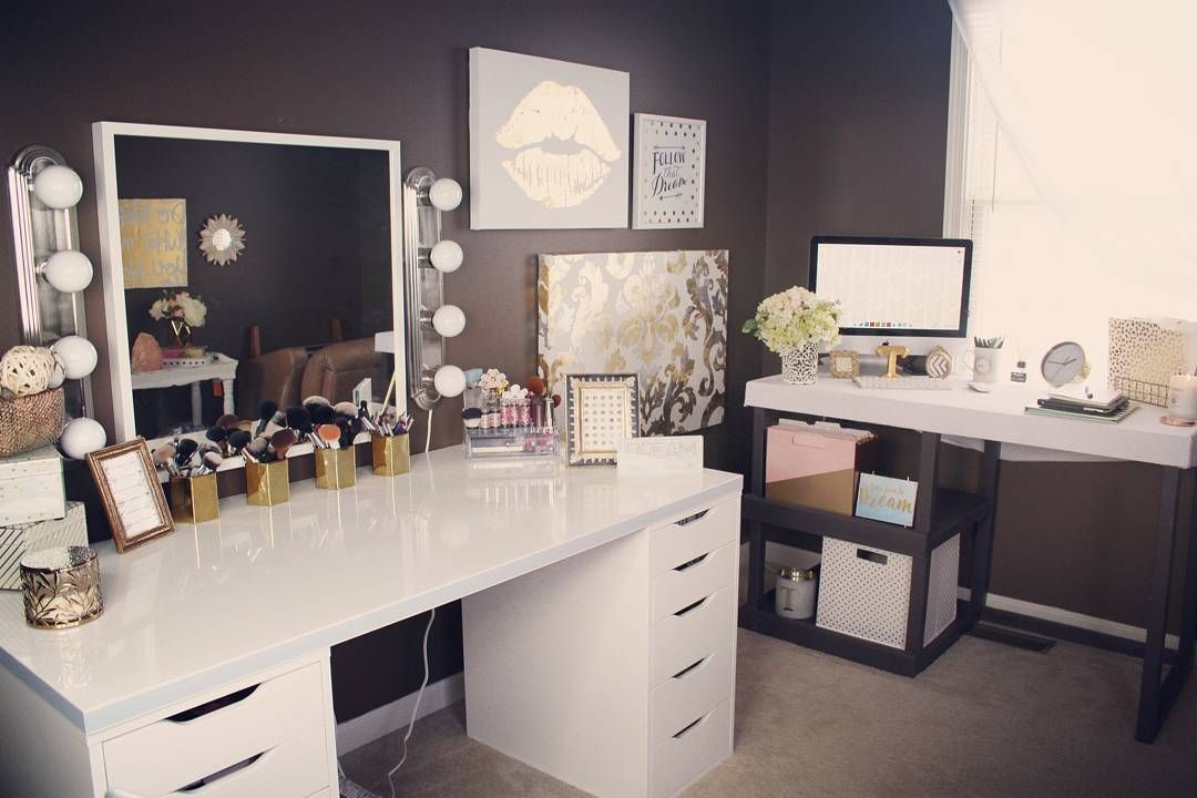 Home Office/Beauty Room Coming Along. Loving TjMaxx, HomeGoods, Hobby Lobby  U0026