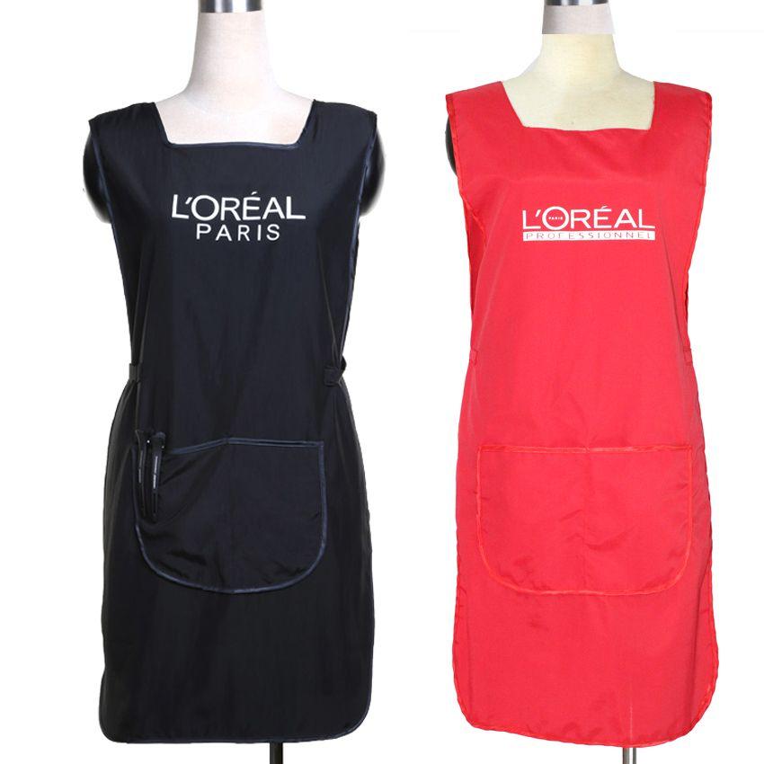 Profesional peluquer a vestido de uniforme delantal de - Velcro doble cara ...