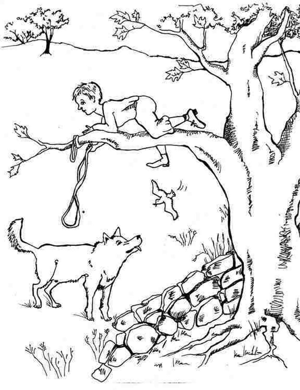 peter and the wolf coloring pages # 2