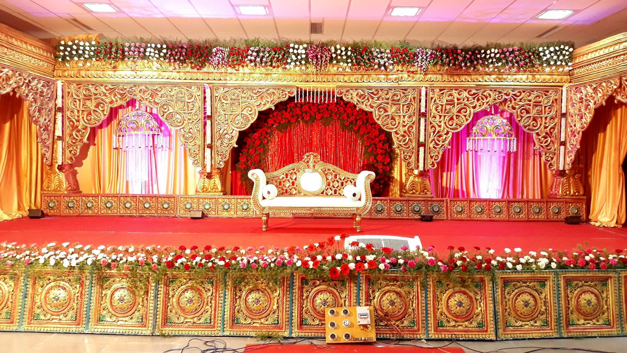 Kcm decorations  Palladam  Sai | wedding backdrop | Pinterest