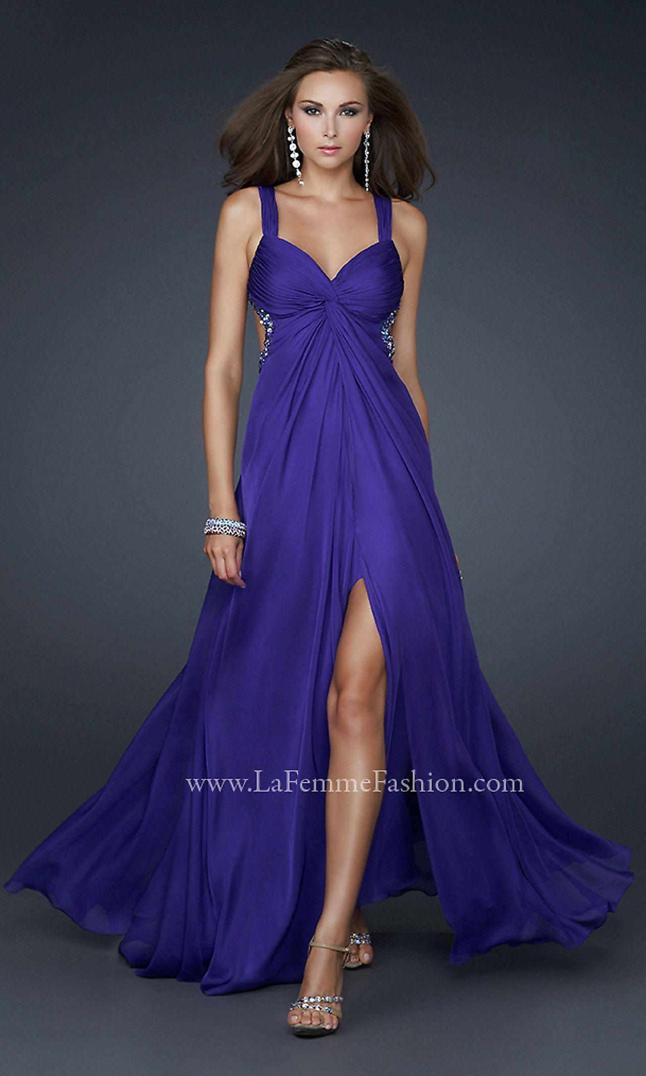 Daring!   Long Flowing La Femme Prom Dress LF-15148