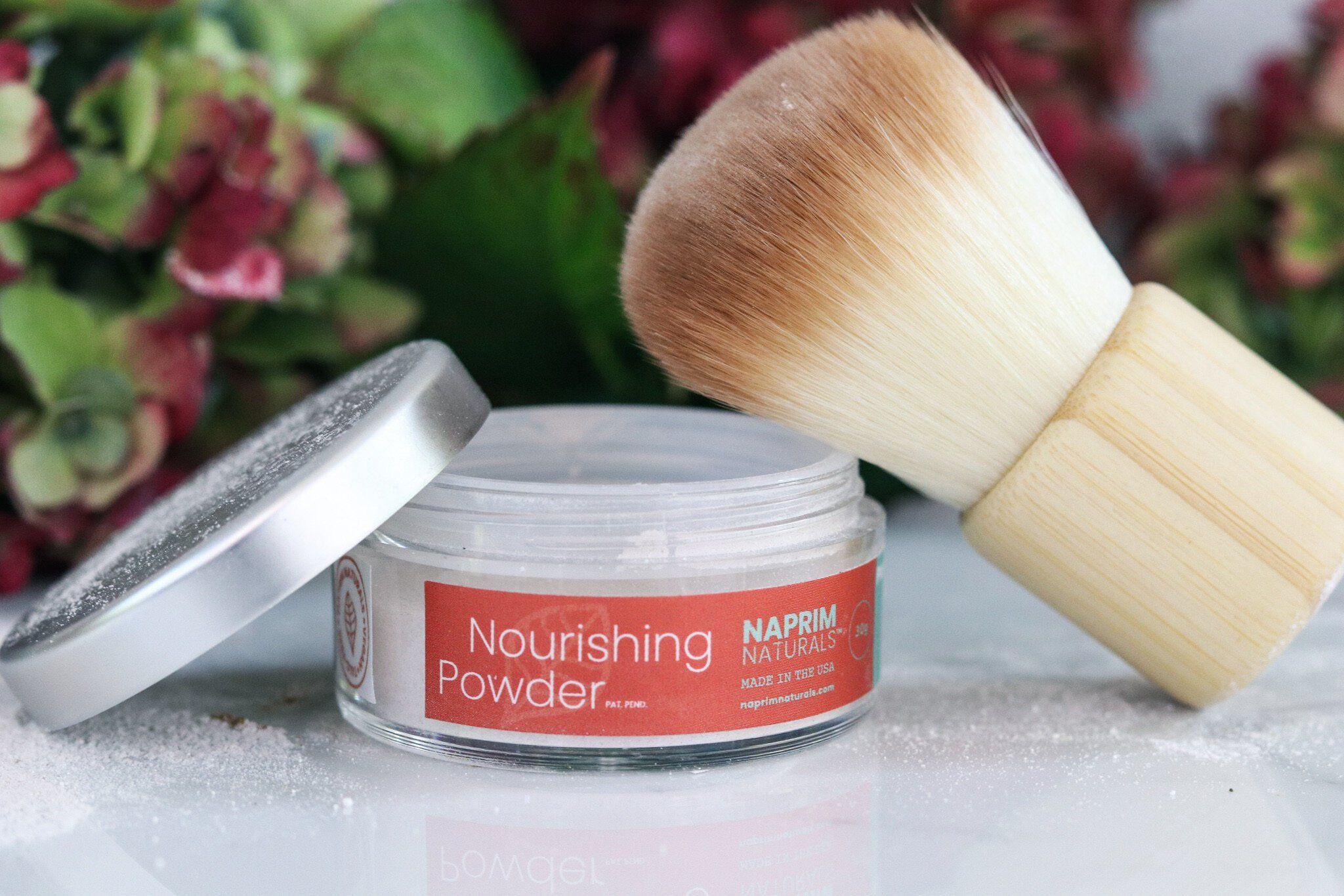Polvos nutritivos + Juego de brochas Kabuki  – Maquillaje