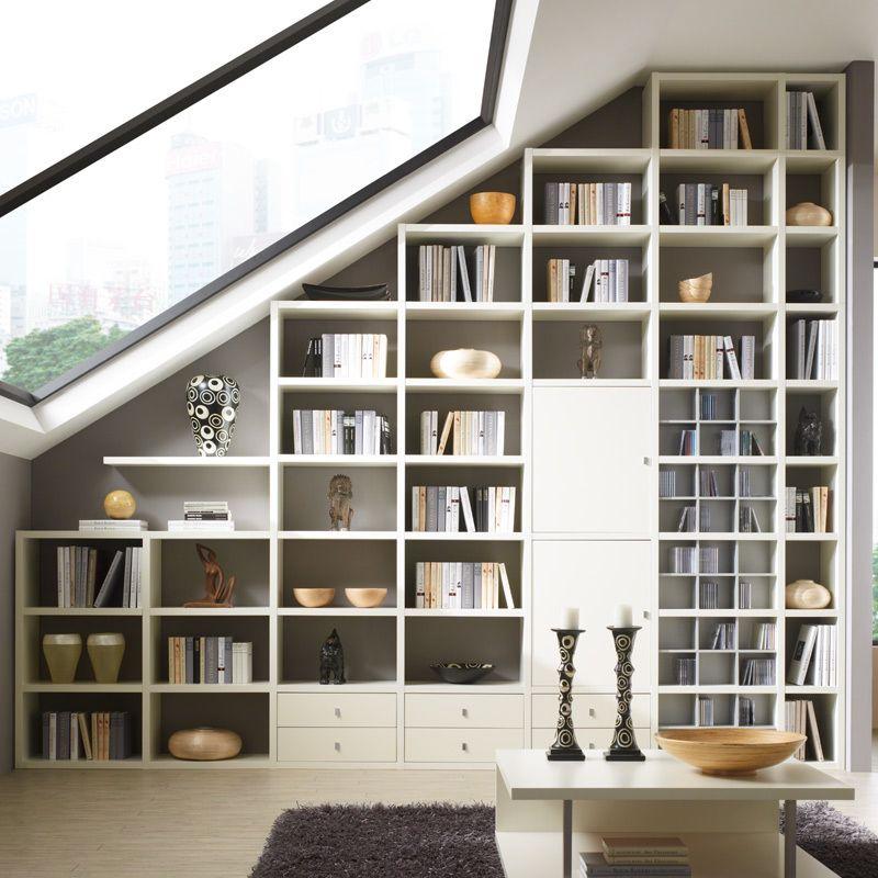 Wohnwand Bücherregal CD DVD Regal TOLEO238 weiß lackiert Jetzt - wohnzimmer wohnwand weiß