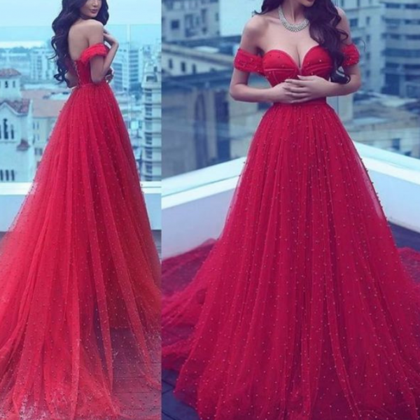 4e9329aa3bbe Sexy Off Shoulder Prom Dress