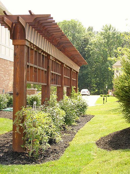 Image result for side yard privacy | Pergola patio ... on Side Yard Pergola Ideas id=48957
