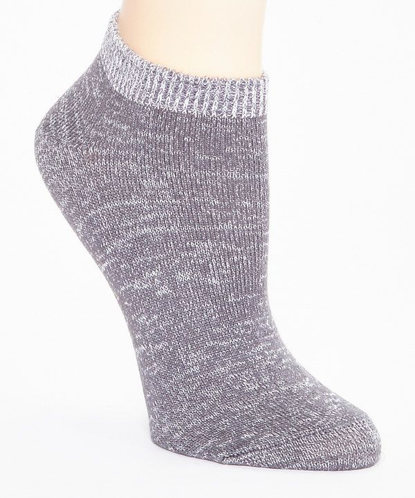 Look at this Steel Gray Gradient Shades Low-Cut Socks on #zulily today!