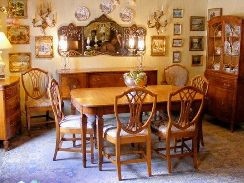 Antique 1930 S Satinwood Dining Room Suite Ebay In 2019