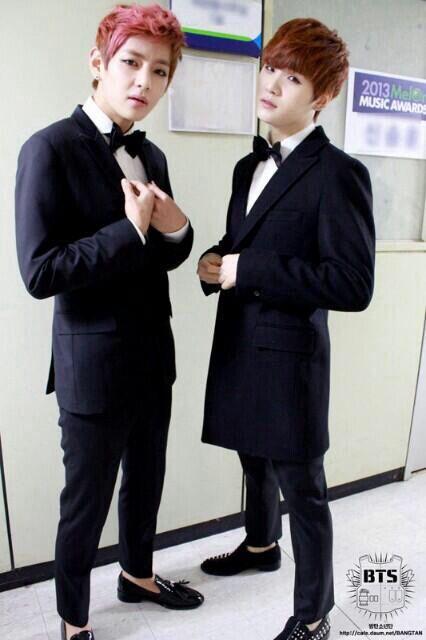 Can I Ship These Two & SUGAxJimin? XD #Kpop #SUGA #V #1st&3rdBias #BangtanBoys #TooHandsome