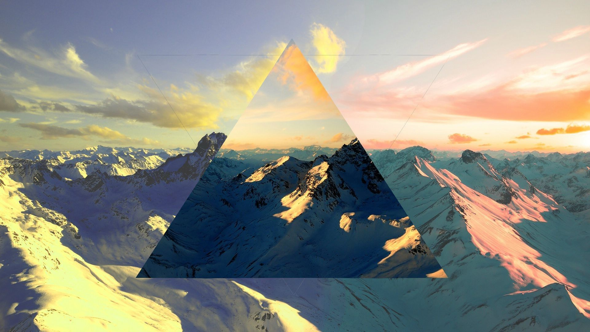 Polyscape Abstract Nature Mountain Wallpaper Desktop Background Images Photo Art Desktop Pictures