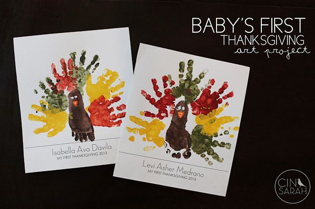 Cinsarah Baby S First Thanksgiving Art Free Printable