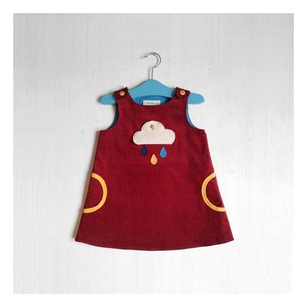 Bio Kleid mit Klapp-Wolke aus Cord von TELL ME Organic Kidswear auf ...