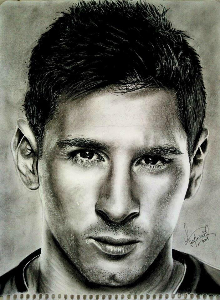 messi  Abby Torruco  Arte Dibujo lapiz futbolistas  Pinterest