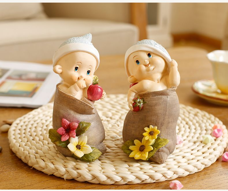 Pas cher 2 pcs mini infantile r sine anges f e jardin for Figurine decoration jardin