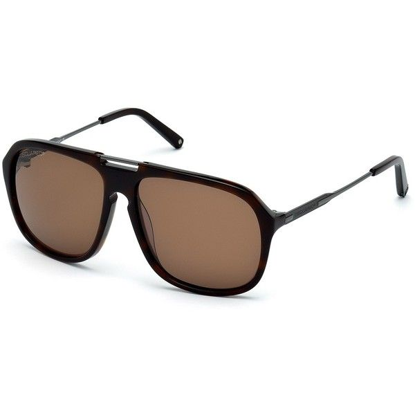 Dsquared Men s Aviator Sunglasses ( 120) ❤ liked on Polyvore featuring  accessories, eyewear, sunglasses, black, dsquared2 glasses, aviator style  sunglasses ... 031040ed0e74