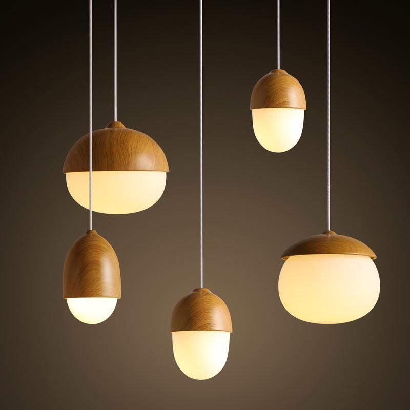 Modern Nodic Wood Acrylic Pendant Lamp Suspension Light Lighting Fixture Diy Coloured Glass Pendant Lig Wooden Pendant Lighting Wooden Light Wood Pendant Light