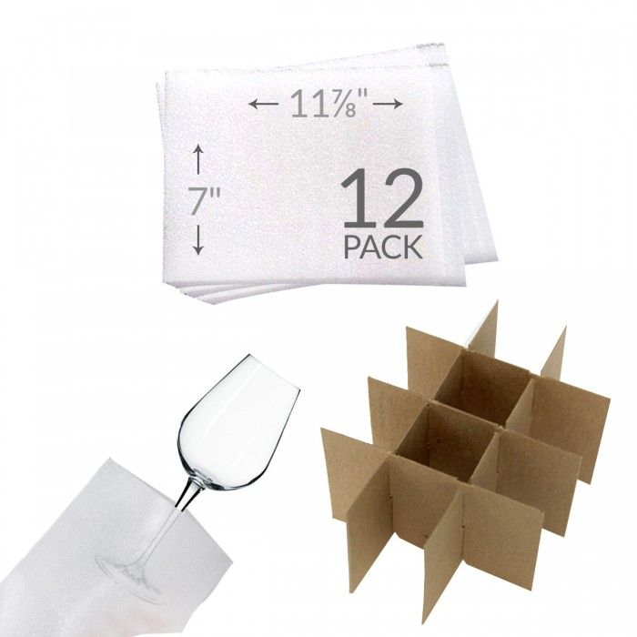 Glass Pack Kit Foam Divider Moving And Storage