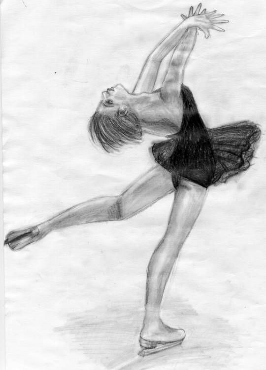 Figure Skater Drawing at GetDrawings | Free download  |Drawing Ice Skater