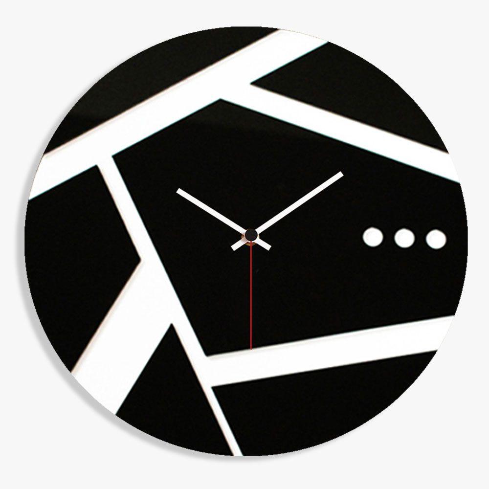 orologio da parete di design moderno in plexiglas nero su base ...