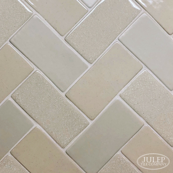 Looking For A Fresh New Way To Use Subway Tile We Ve Got Some Great Ideas On The Blog Like This Herringbone Pattern In Mix Of Le Satin And Glossy