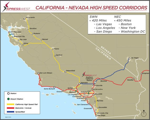 and Chinese firms agree on highspeed rail plan from LA to Vegas