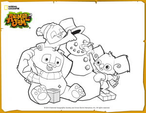 Animal Jam Jamaalidays Coloring Page Animal Jam Coloring Pages Creature Feature