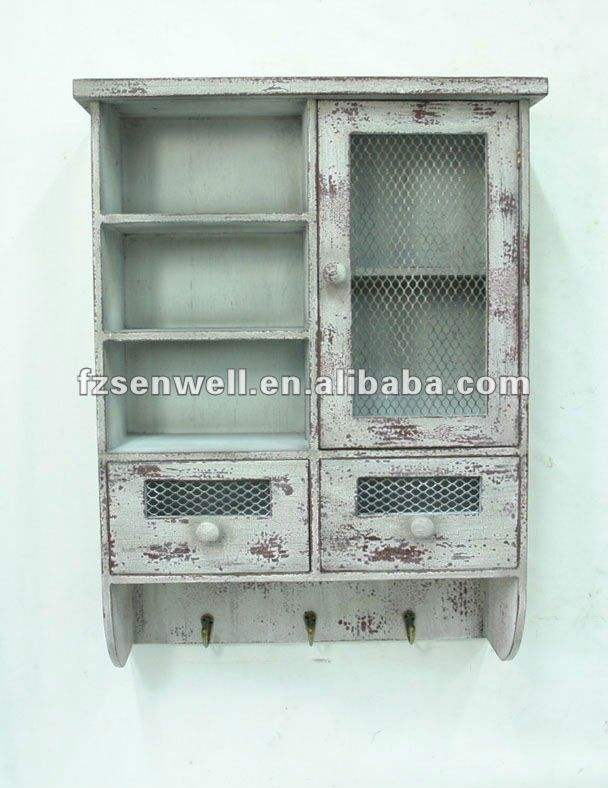 Shabby Chic Kitchen Wall Cabinet For Seasoning View