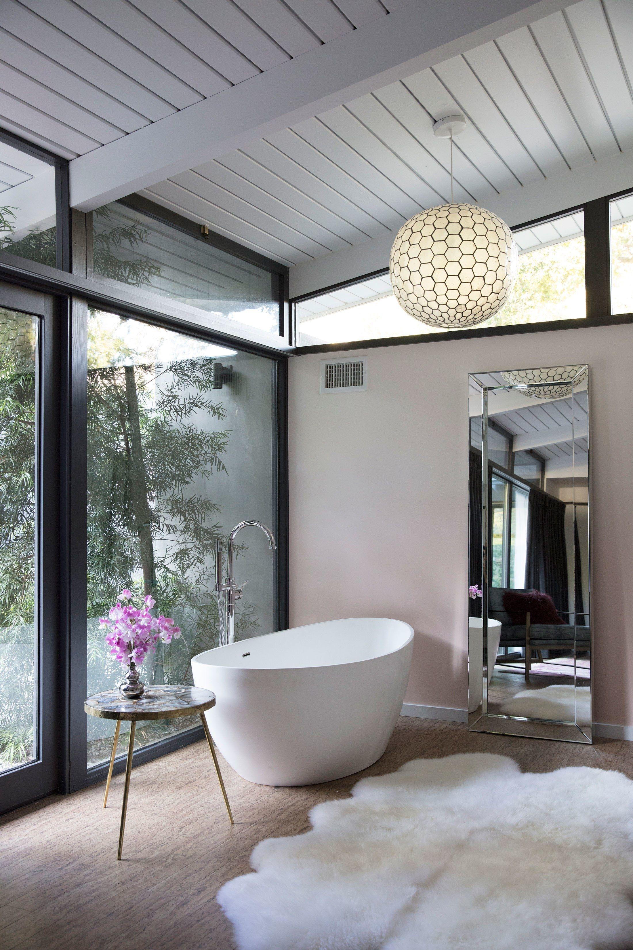 Master bedroom without bathroom  Laura Dernus Modern Forest Retreat  Architectural digest Dream
