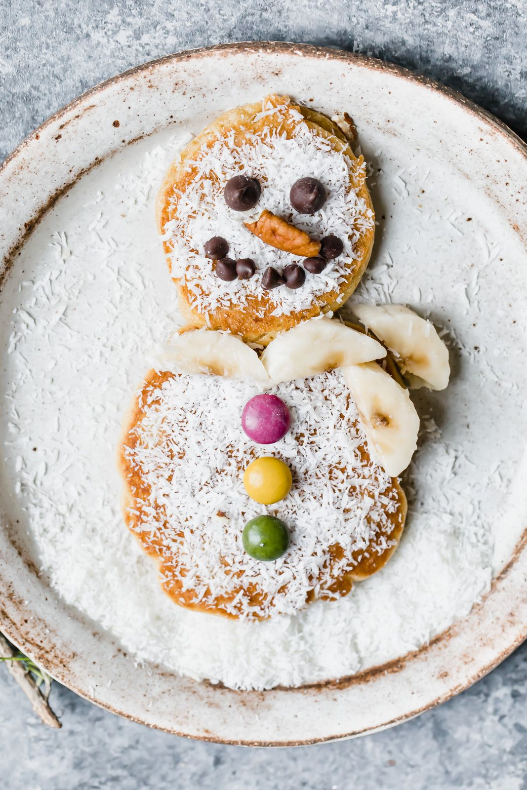 Grain free snowman pancakes ambitious kitchen recipe
