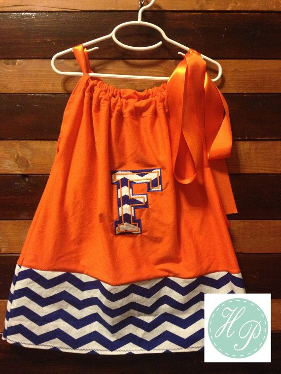 Florida Gator Pillow Case Dress For Baby