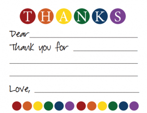 Thank You Note  Life Your Way  Kids Thank You Notes
