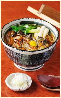 かき南蛮 Kaki nanban (Hot Soba with grilled oyster)