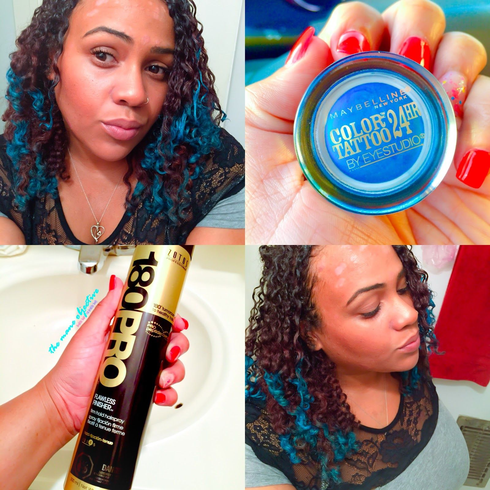 How To Use Eyeshadow As Temporary Hair Color And Save Your Curls