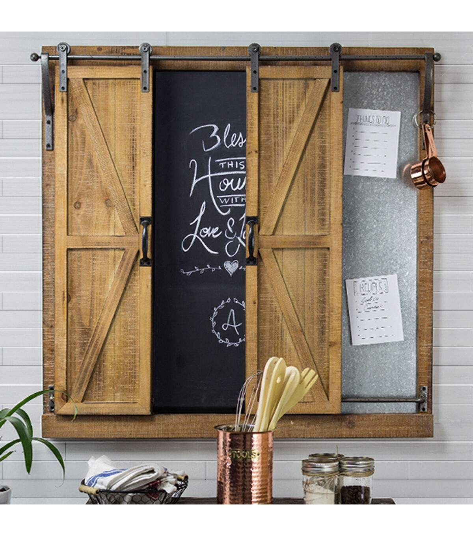 Furniture Finds Sliding Barn Door Chalkboard Message Board Joann Chalkboard Wall Decor Chalkboard Decor Farmhouse Wall Decor