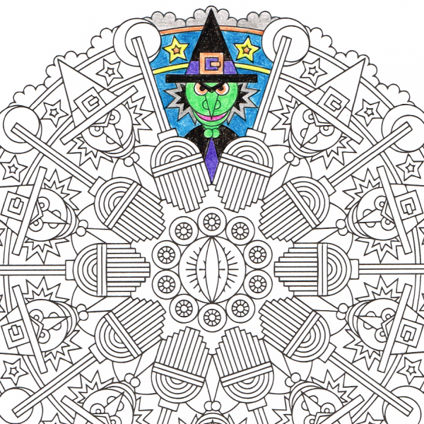 Eye of Newt - Halloween witch coloring page | Witch ...