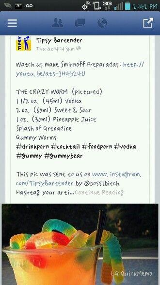 The crazy worm