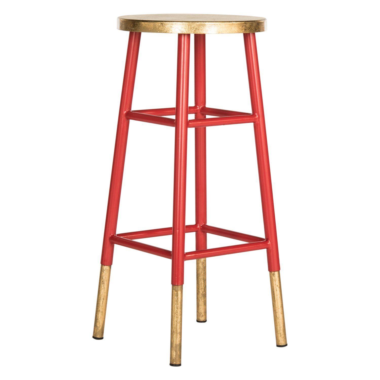 Hokum Bar Stool In 2021 Red Bar Stools Bar Stools Iron Bar Stools