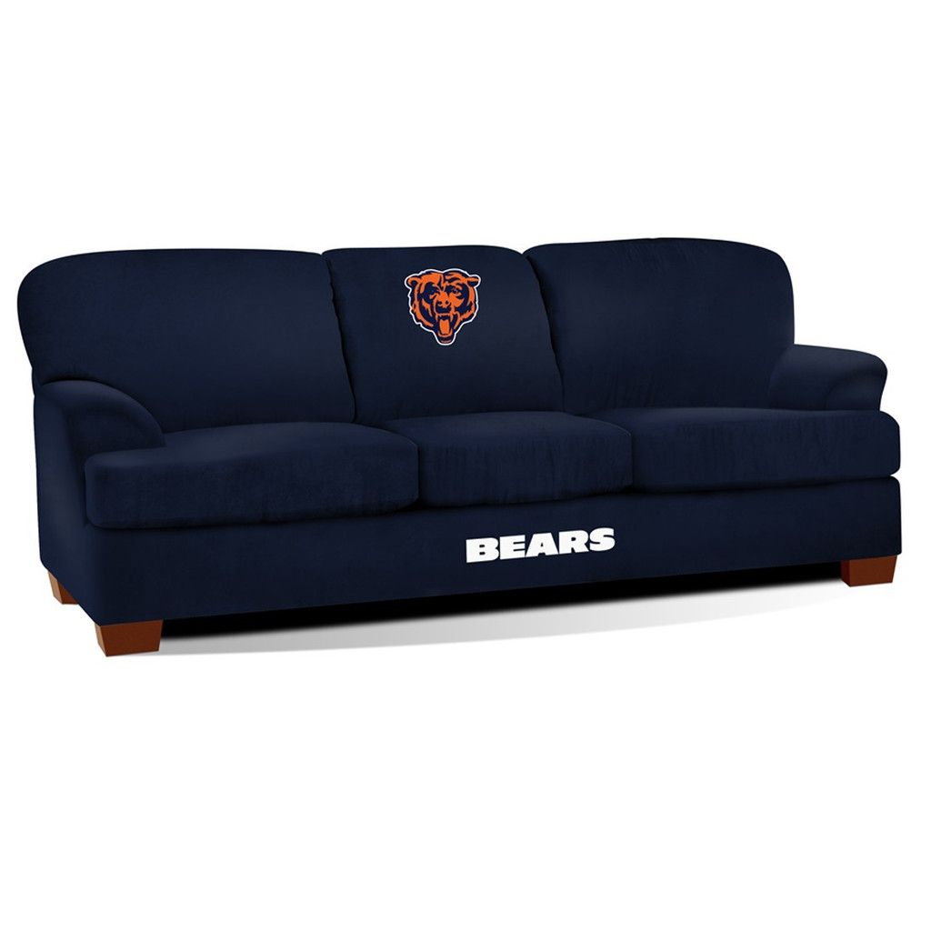 First Team Microfiber Sofa   Chicago Bears