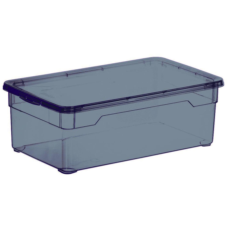 Boite De Rangement Basic Box Noir Fume 5l 7081026 Carrefour Boite De Rangement Rangement Et Coffre De Rangement