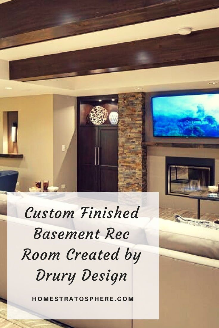 Rec Room Bar Designs: Custom Finished Basement Rec Room Created By Drury Design