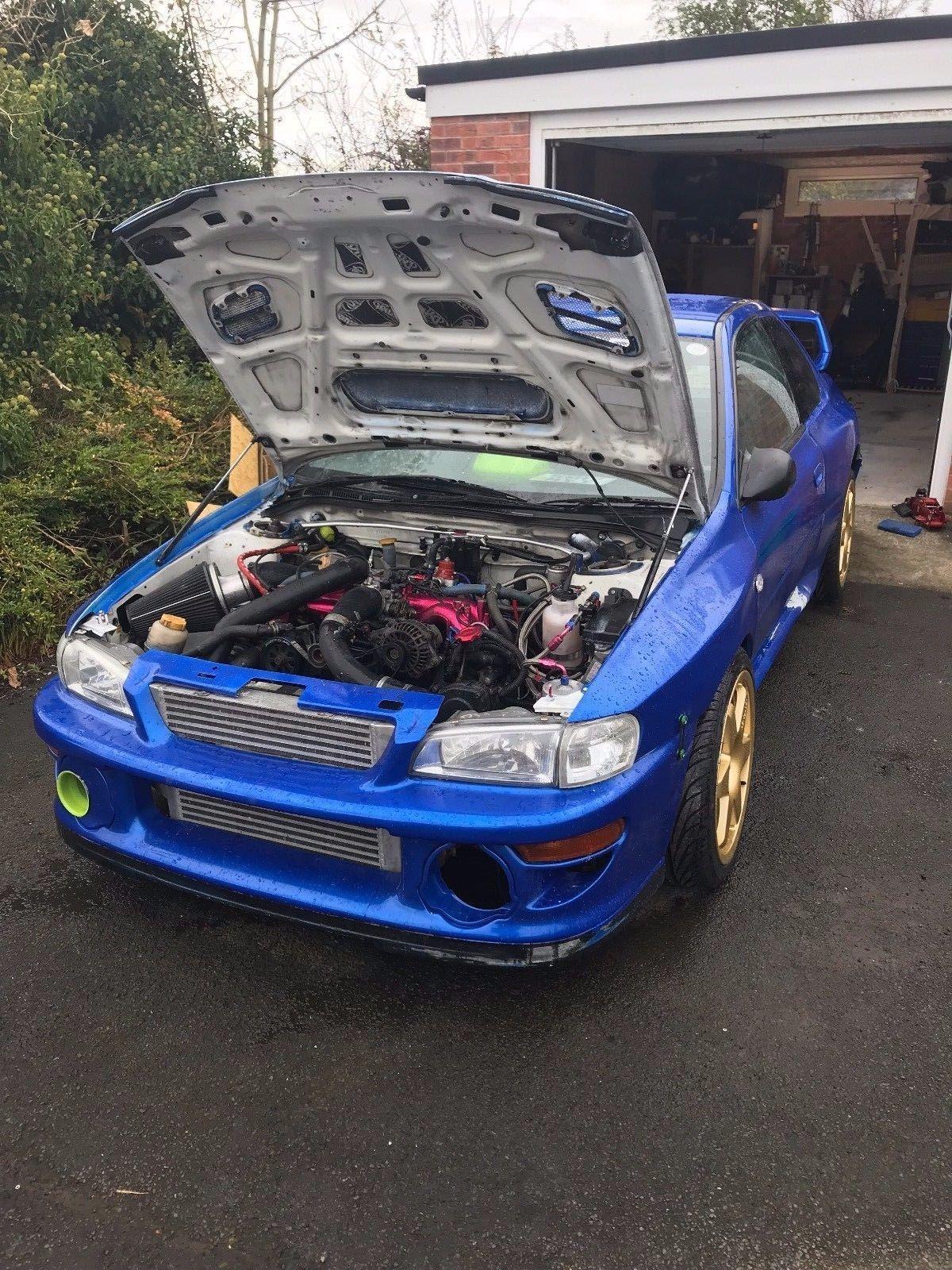 This subaru impreza wrc wrx sti type r race car 600bhp hill climb is ...