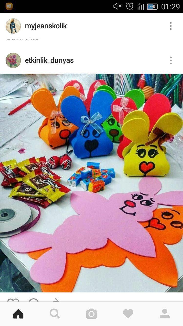 Tavşan Kalıp Origami School Preschool Ve Sunday School