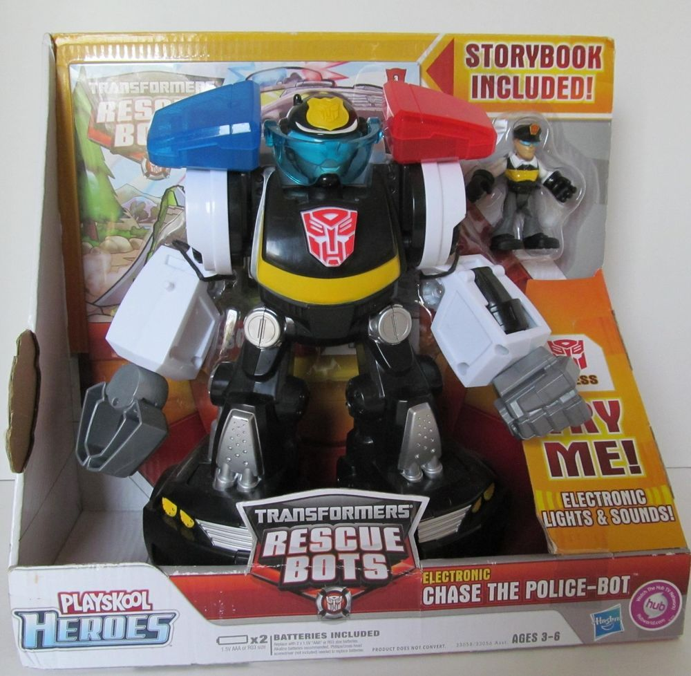 Transformers Rescue Bots Chase Police Playskool Heroes Toy Figure New NOS Box