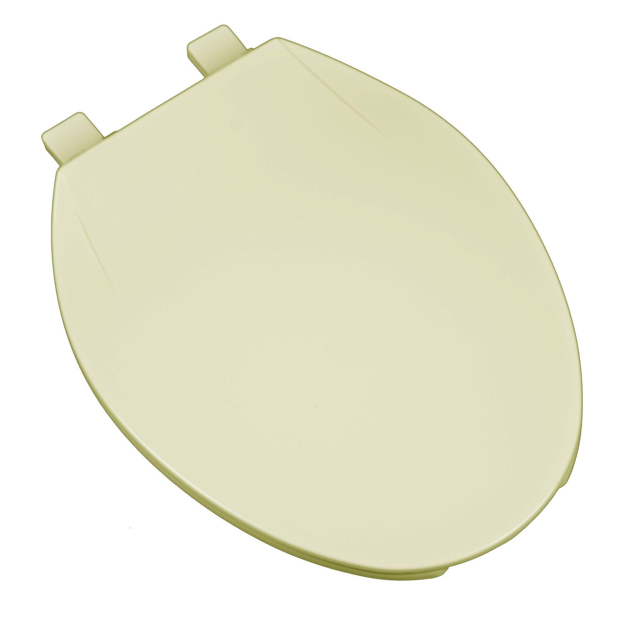 Deluxe Plastic Contemporary Round Toilet Seat Plastic Hinges