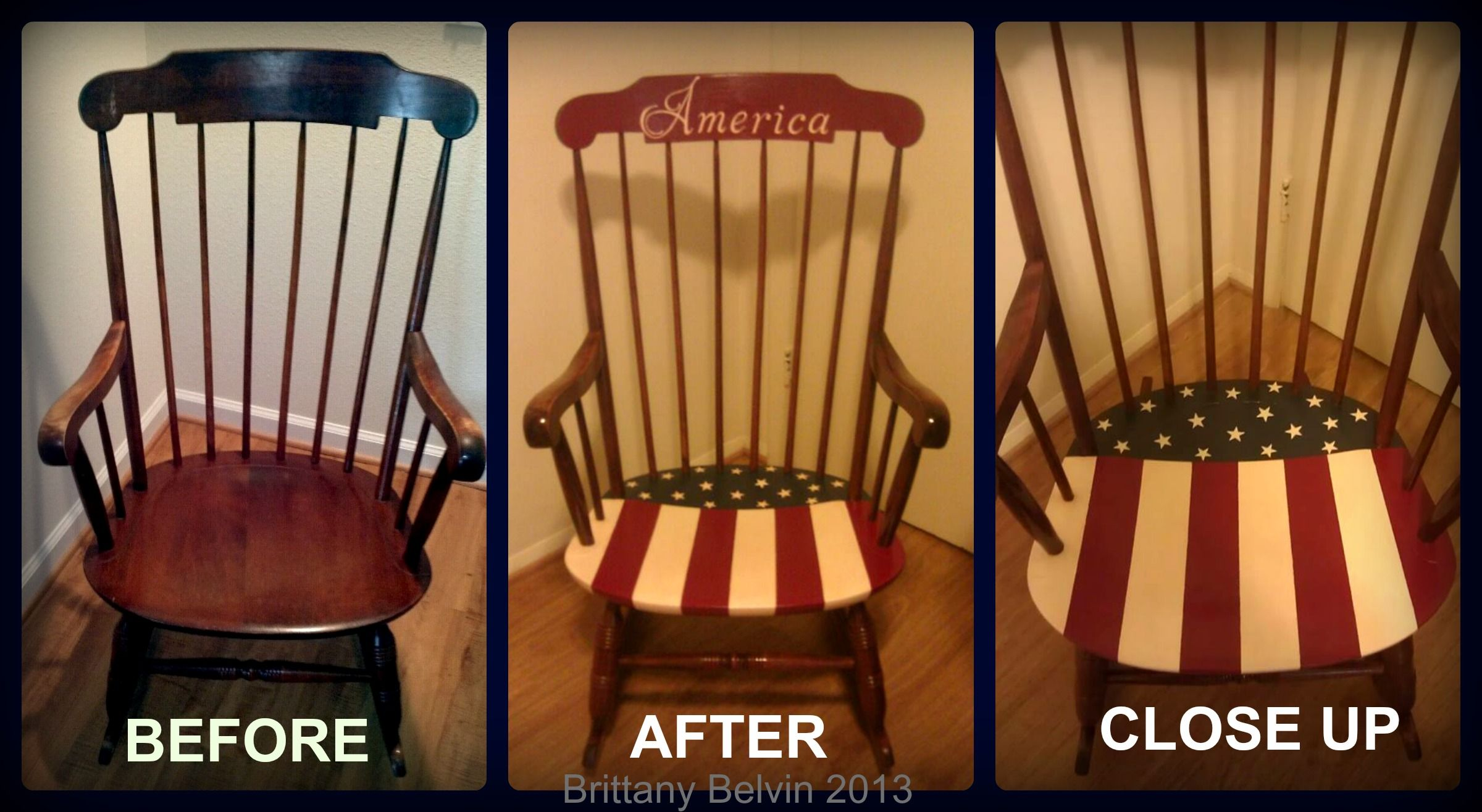 american flag chair canvas deck chairs americana rocking diy project