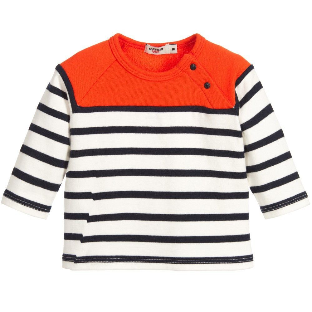 cb4a0c55 Junior Gaultier Baby Boys Colorful Striped Top | Babies and Products