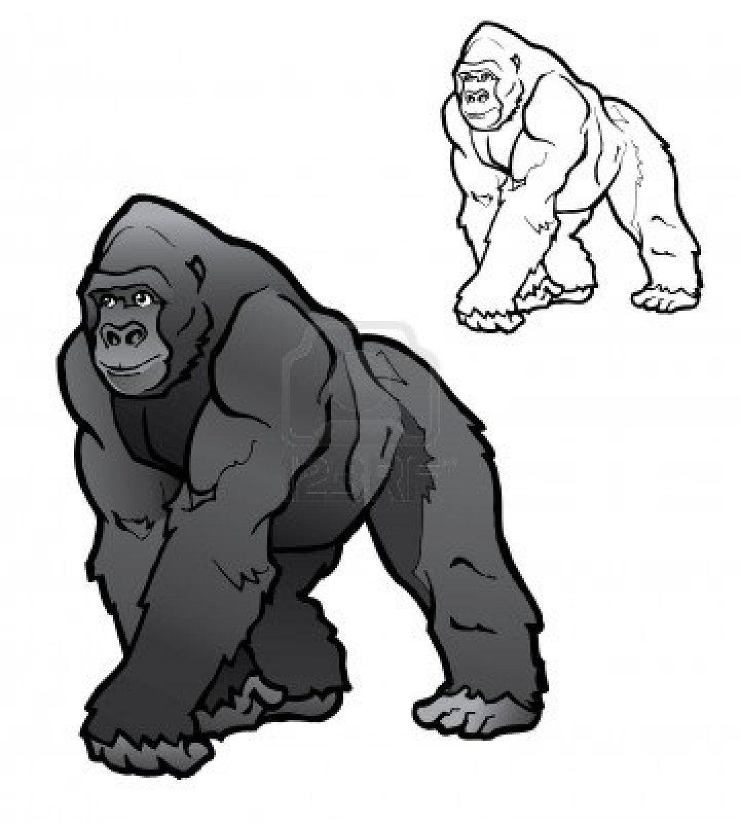 Silverback Gorilla Gorillas Art Animal Drawings Sketches Cartoon Animals