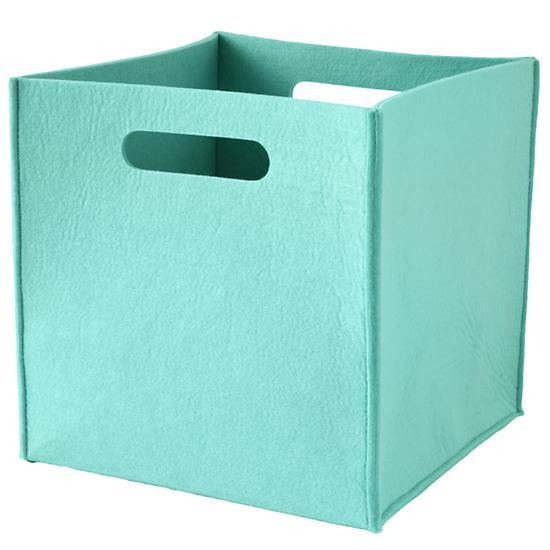 once more with felting cube bin aqua in tabletop storage the land of