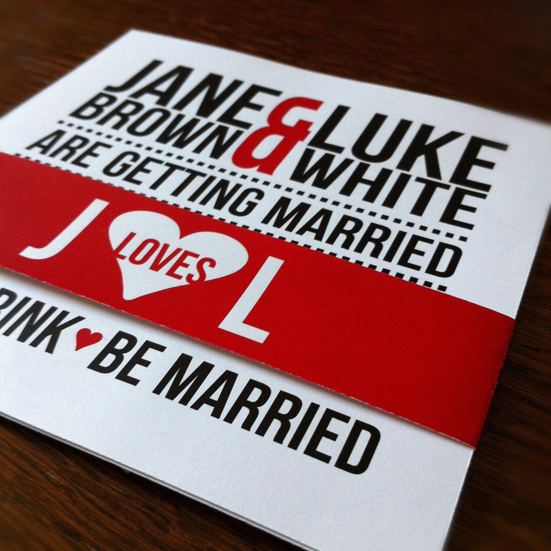 Modern Typography Wedding Stationary Suite | Modern typography ...